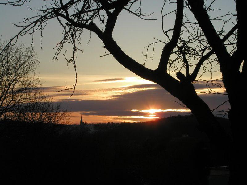 Sonnenuntergang über meinem Ort