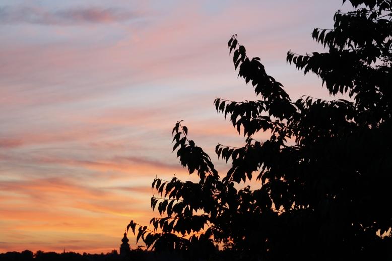 Sonnenuntergang über Mühldorf
