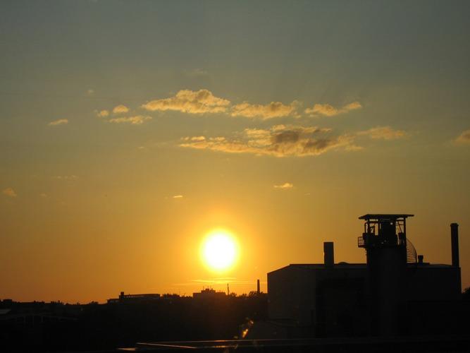 Sonnenuntergang über Nürnberg
