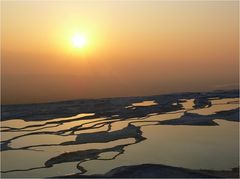 Sonnenuntergang über Pamukkale
