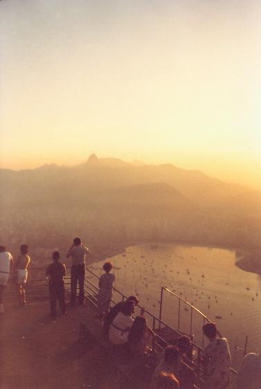 Sonnenuntergang über Rio, vom Zuckerhut gesehen
