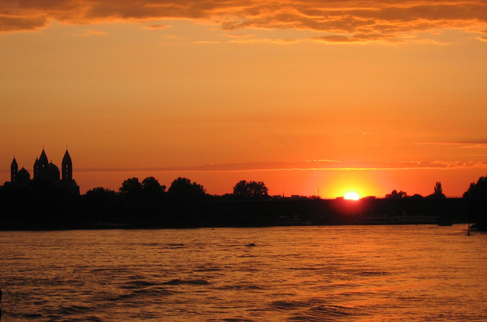 Sonnenuntergang über Speyer