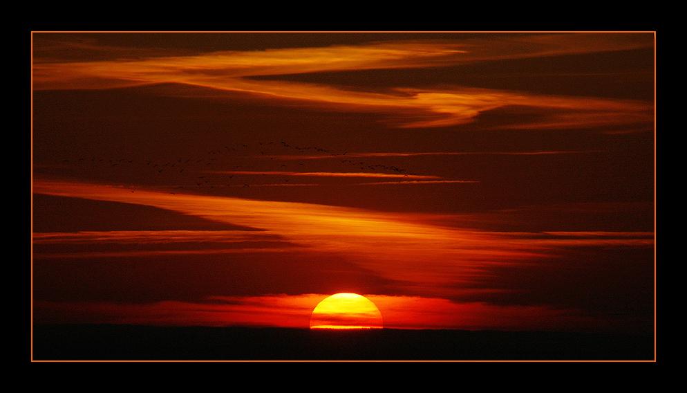 Sonnenuntergang über Straubing
