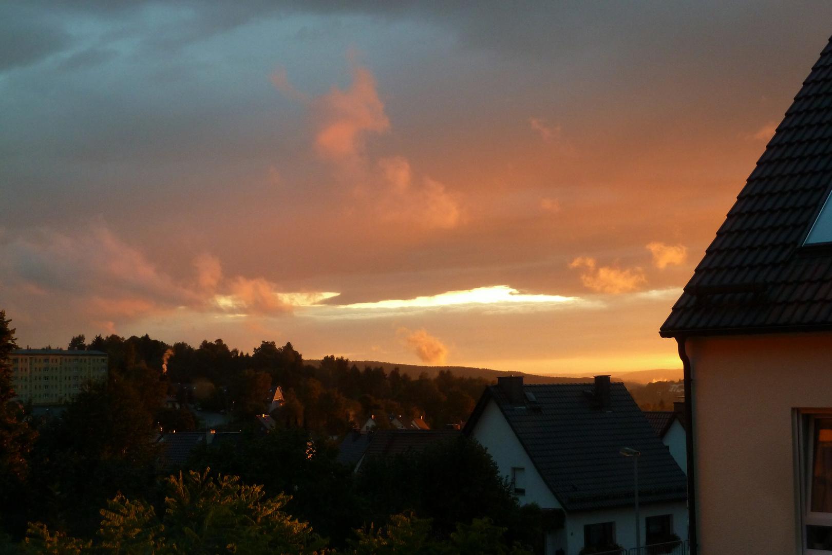 Sonnenuntergang über Suhl 1