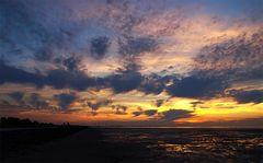 Sonnenuntergang über Watt