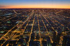 Sonnenuntergang über Westchicago