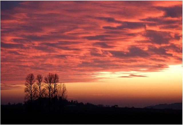 Sonnenuntergang über Wittelsberg