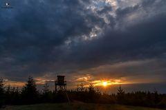 Sonnenuntergang über Wittgenstein