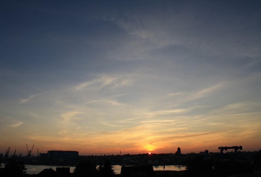 Sonnenuntergang über Wolgast 2
