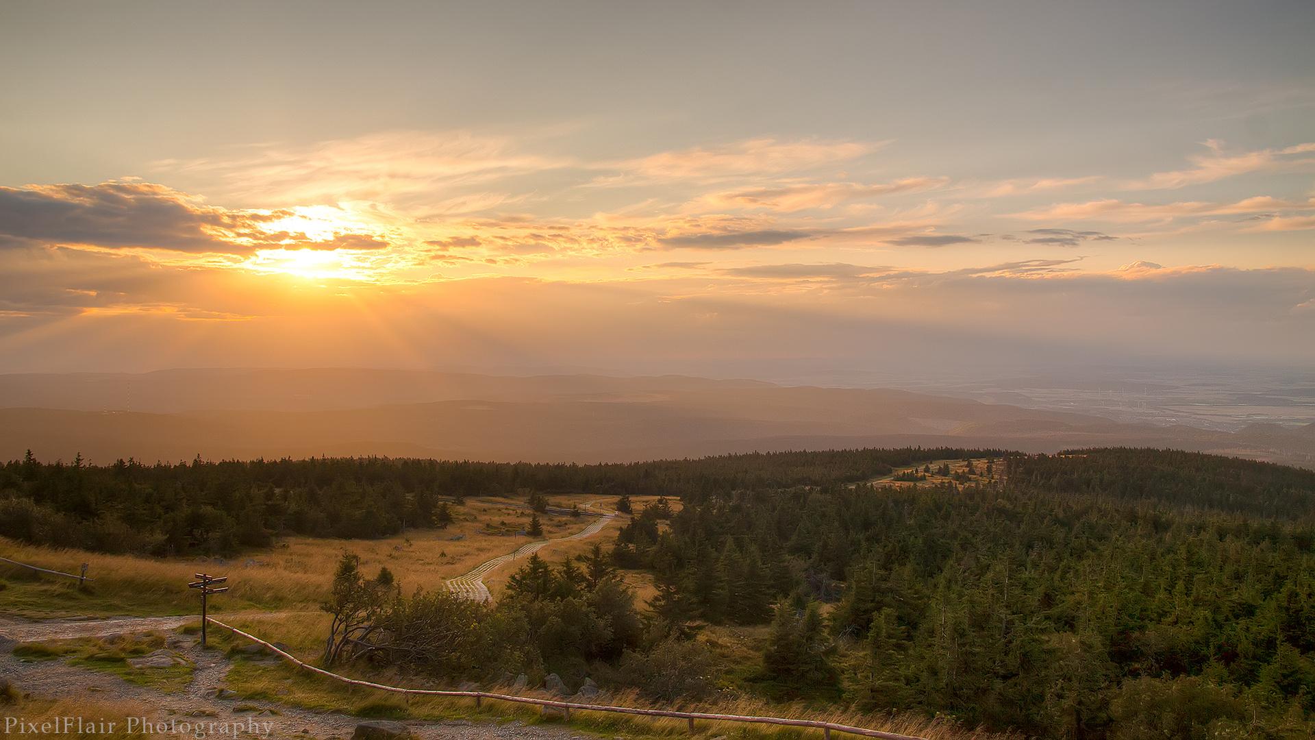 Sonnenuntergang überm Harz