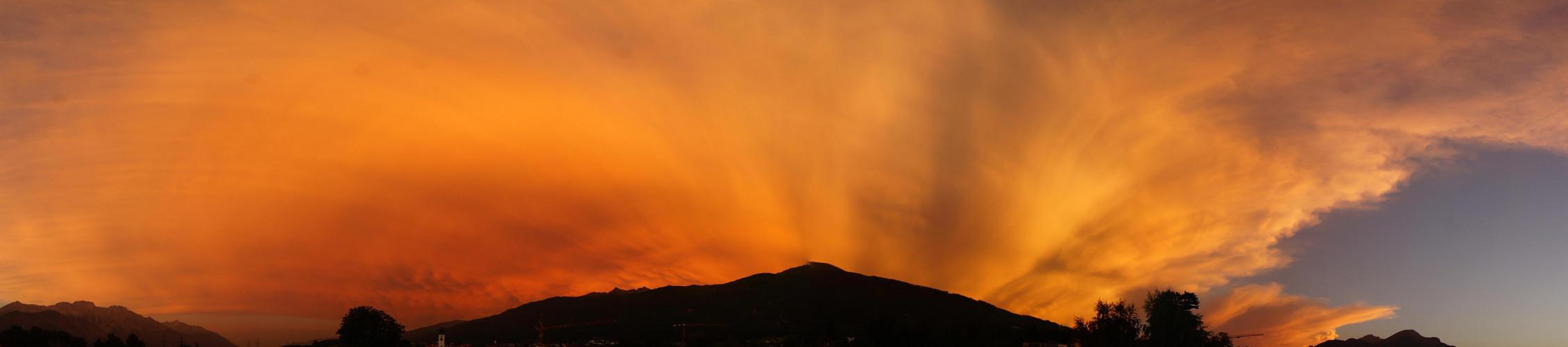 Sonnenuntergang überm Inntal