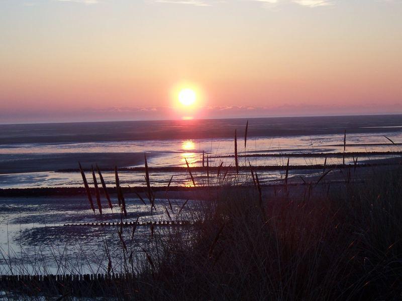 Sonnenuntergang überm Meer