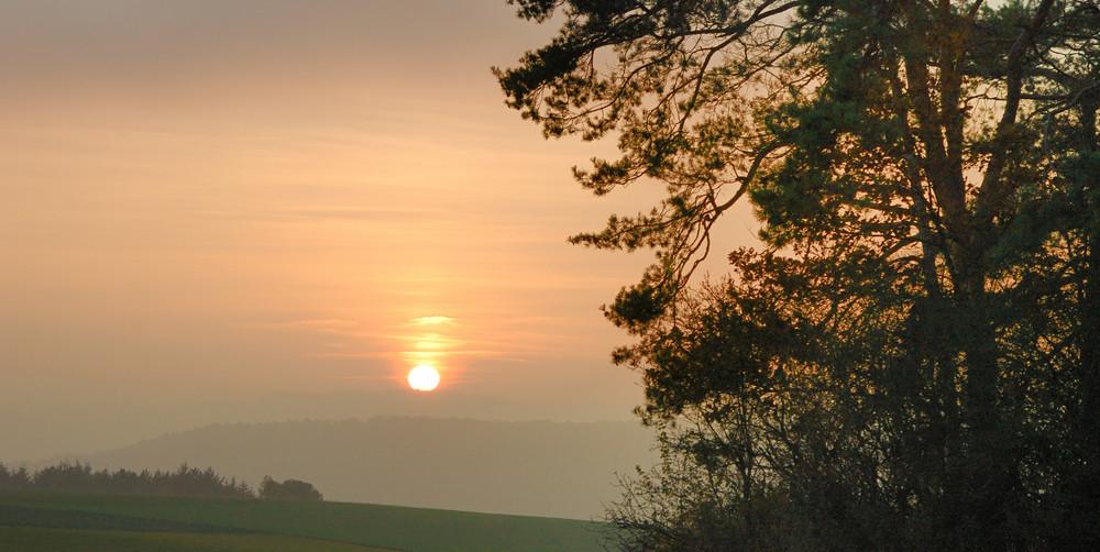 Sonnenuntergang über'm Steckental ...