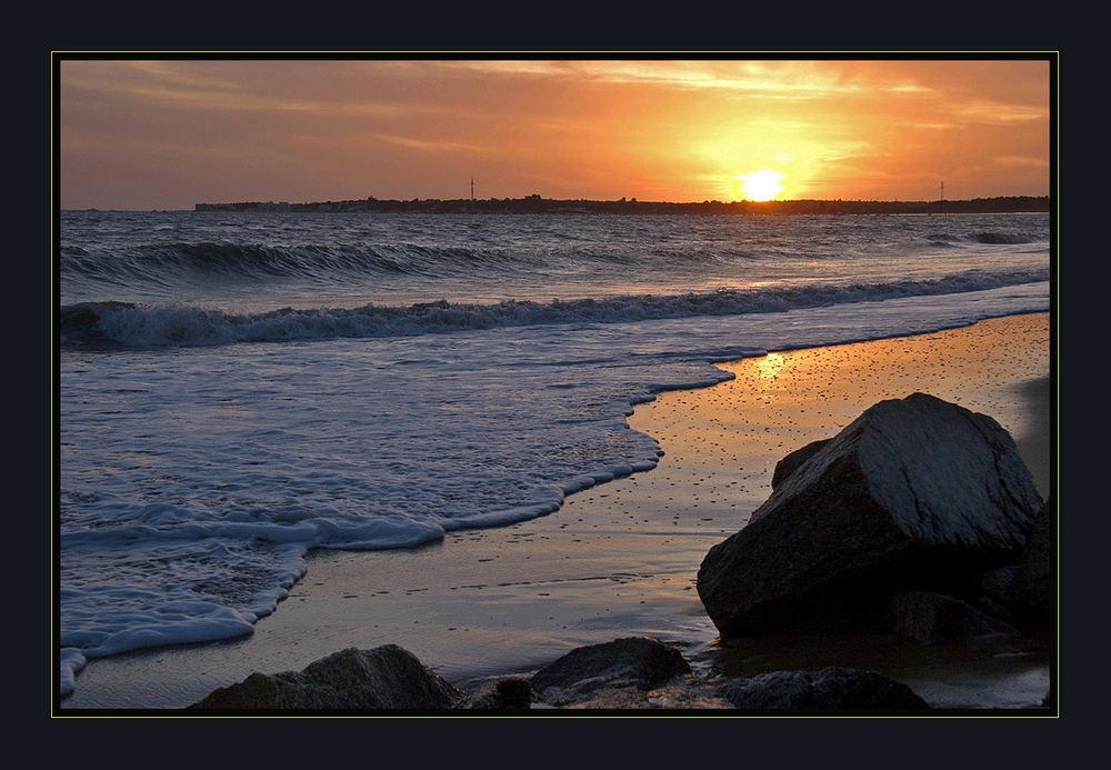 Sonnenuntergang und Meeresrauschen