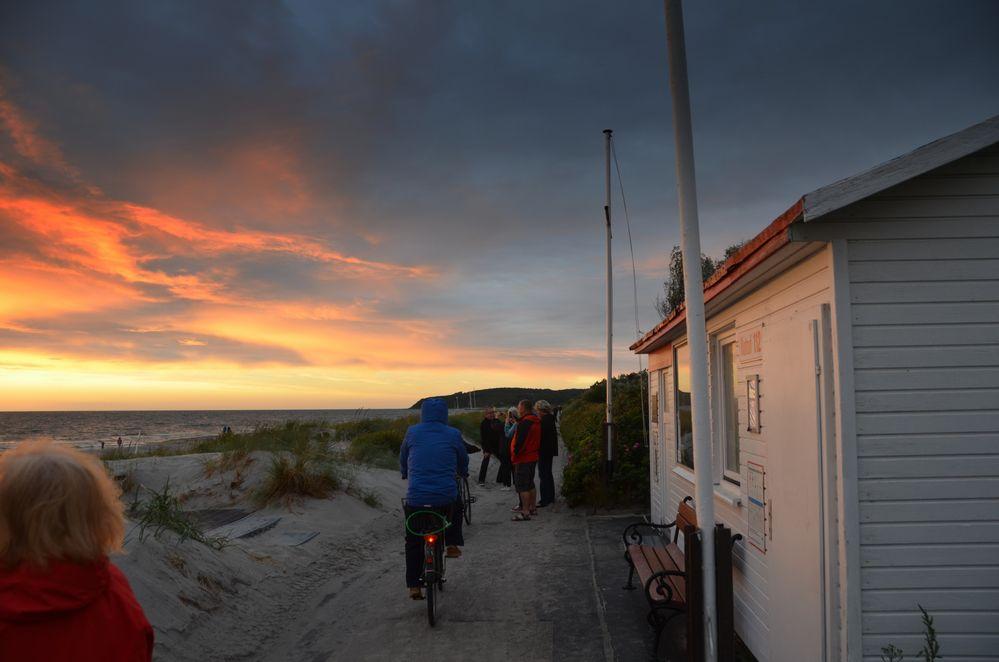 Sonnenuntergang Vitte Insel Hiddensee