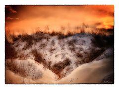 Sonnenuntergang vom 16. Januar 2013 - Langensteinbach