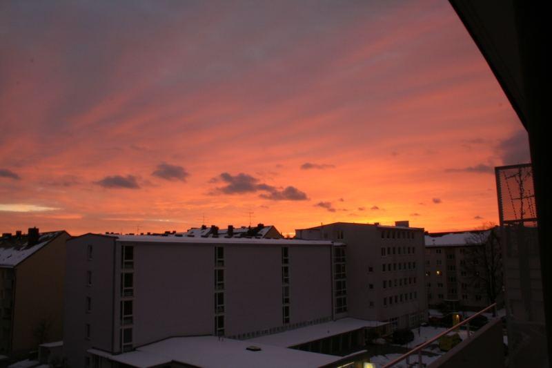 Sonnenuntergang Vom Balkom aus gesehen