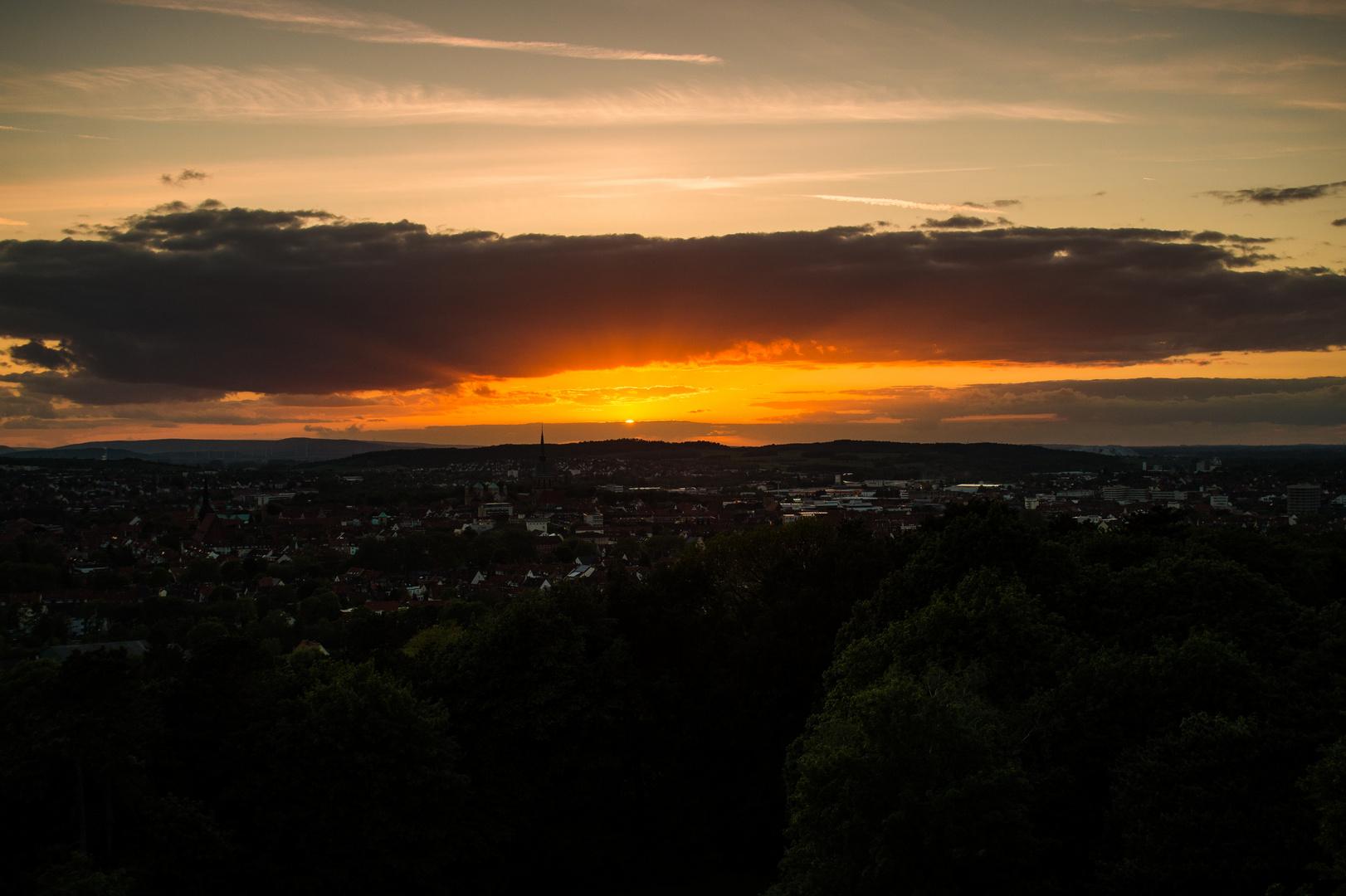 Sonnenuntergang vom Bismarckturm