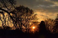 Sonnenuntergang vom Karlsberg aus