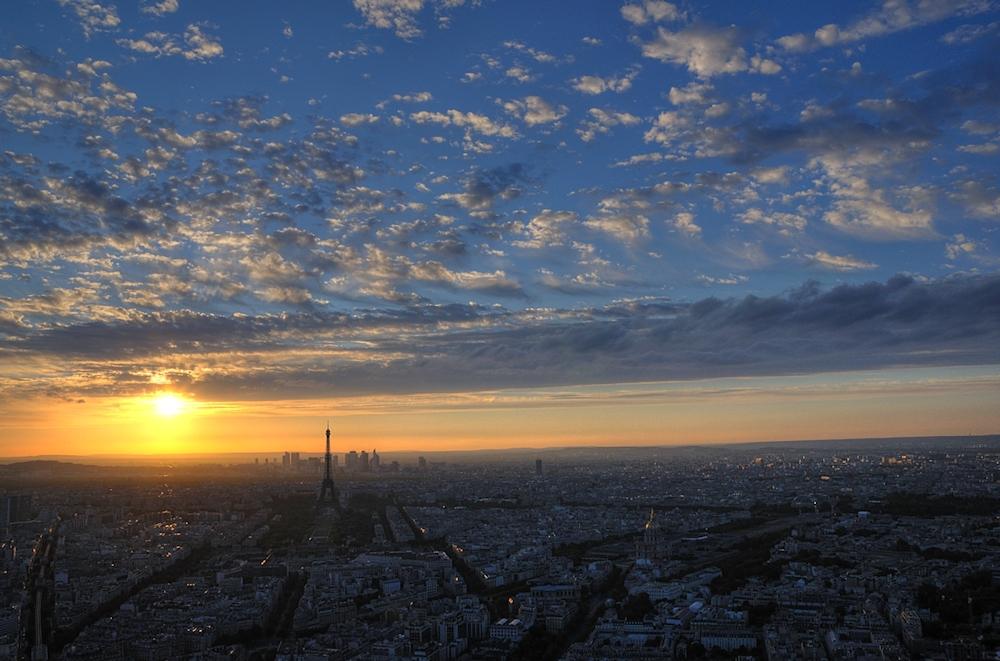 Sonnenuntergang vom Mont Parnasse