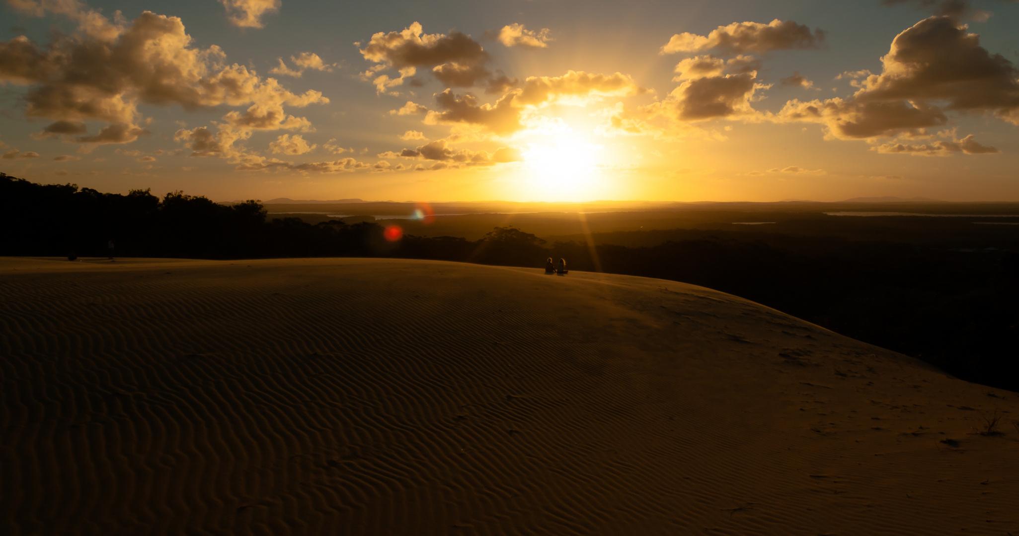 Sonnenuntergang von der Düne