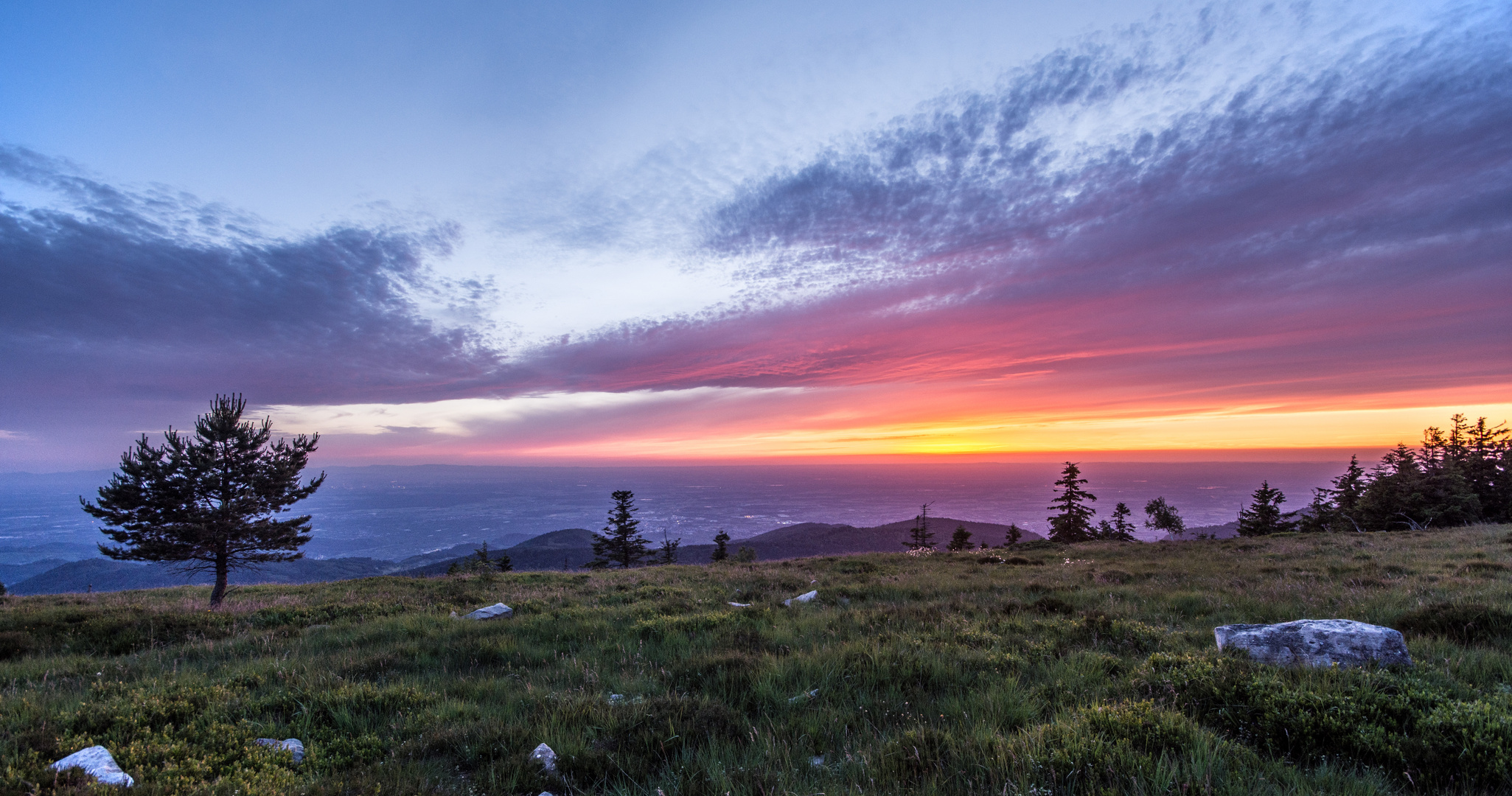 Sonnenuntergang von der Grinde