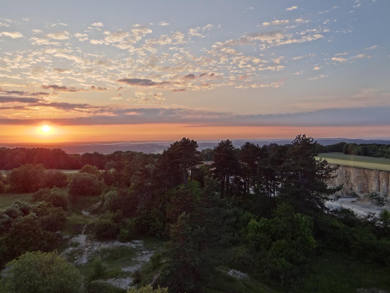 Sonnenuntergang von der Mirsberger Platte