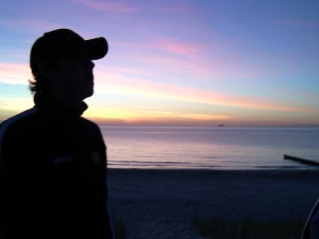 Sonnenuntergang von der Ostsee