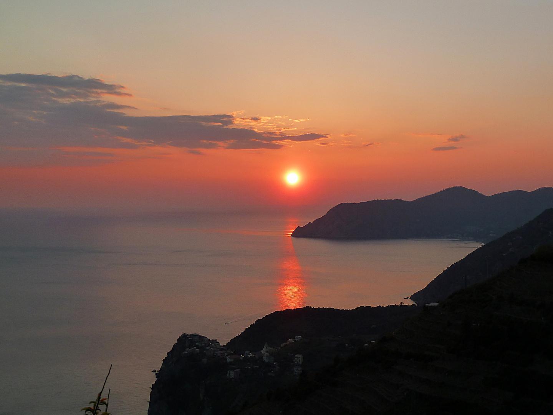 Sonnenuntergang vor Corniglia