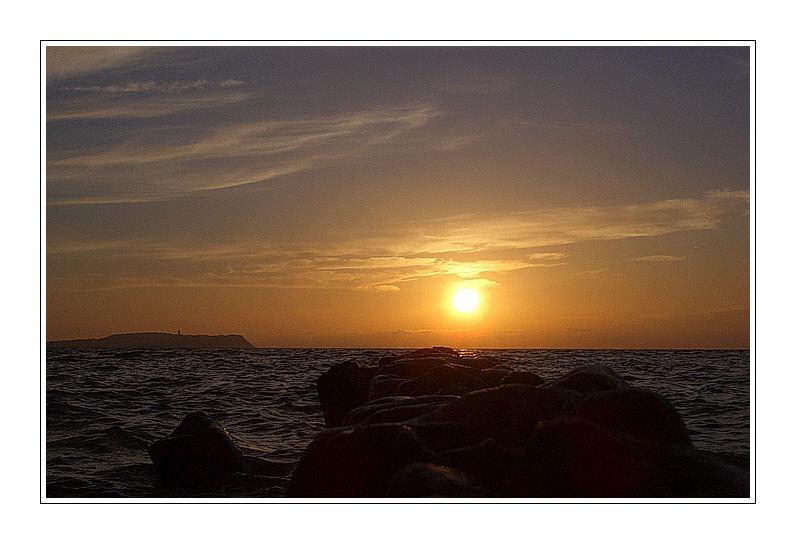 Sonnenuntergang vor Hiddensee