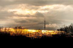 Sonnenuntergang vorm Funkturm