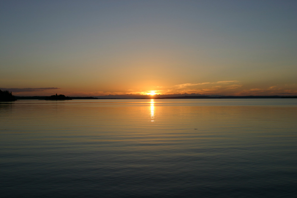 Sonnenuntergang Vuokati Finnland