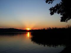 Sonnenuntergang Waging am See