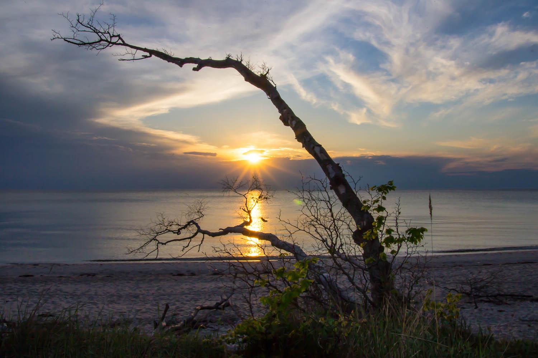Sonnenuntergang Weststrand