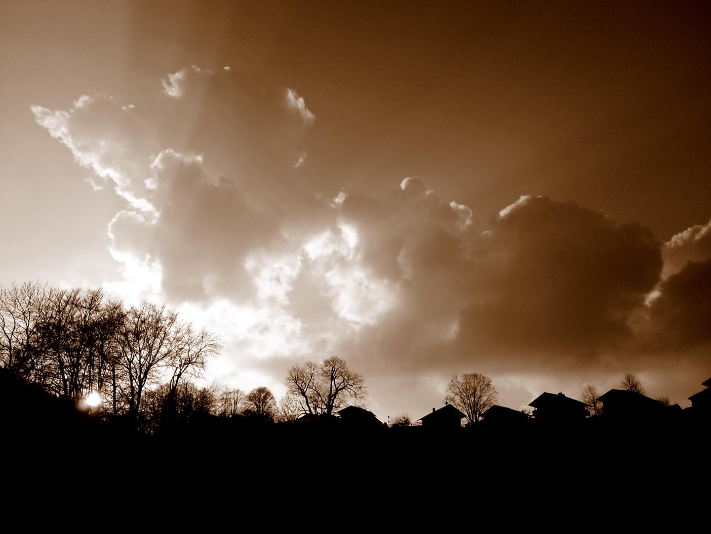 sonnenuntergang & wolken