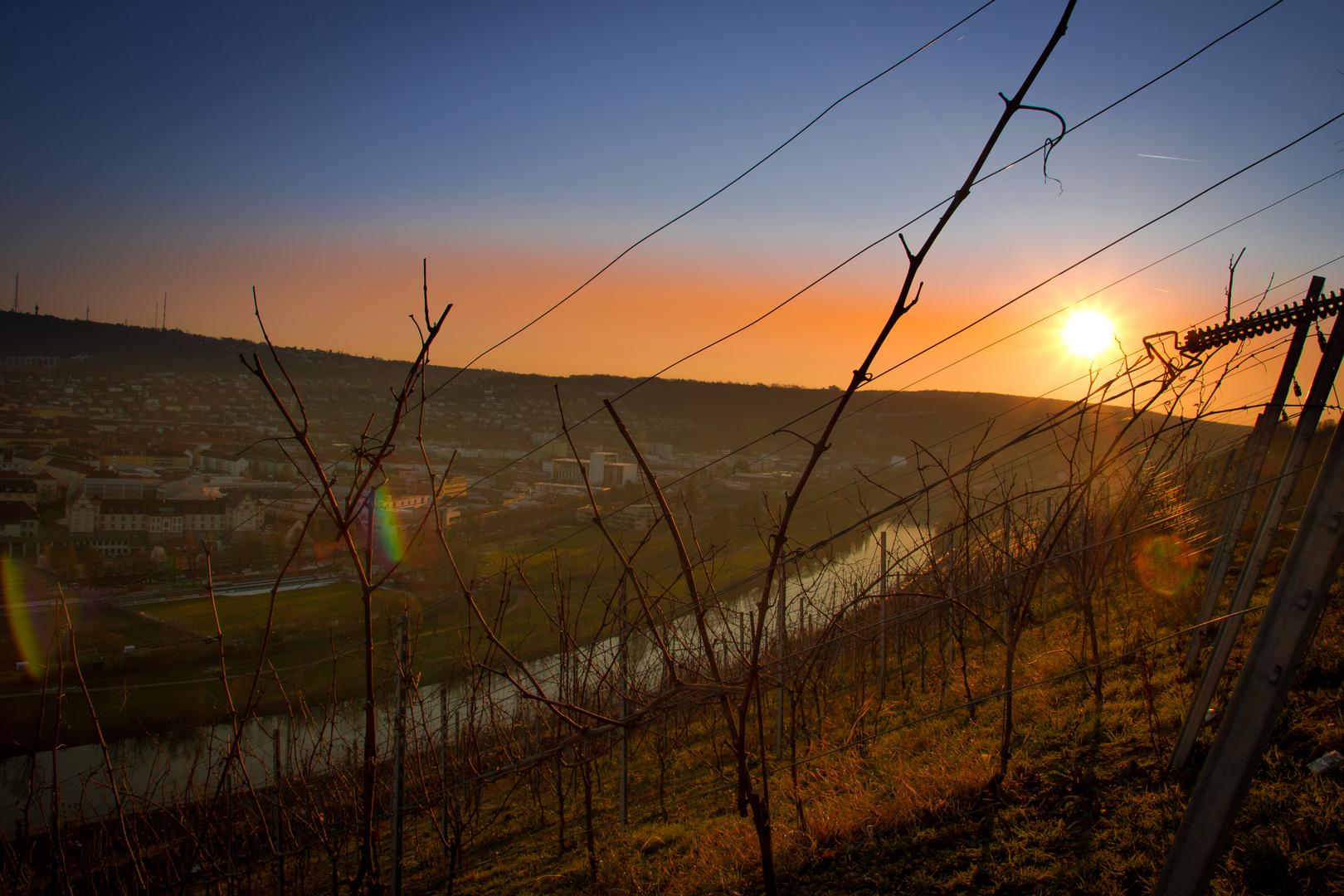Sonnenuntergang Würzburg