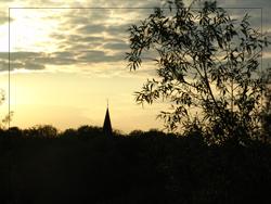 Sonnenuntergang Zuhause