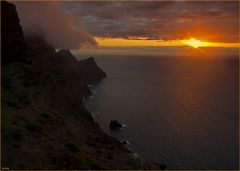 Sonnenuntergangs - Gewitter