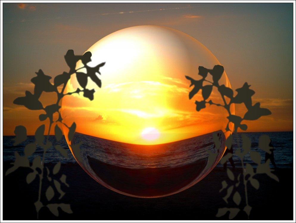 Sonnenuntergangskugel
