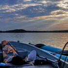 Sonnenuntergangsstille über dem Breiten Luzin