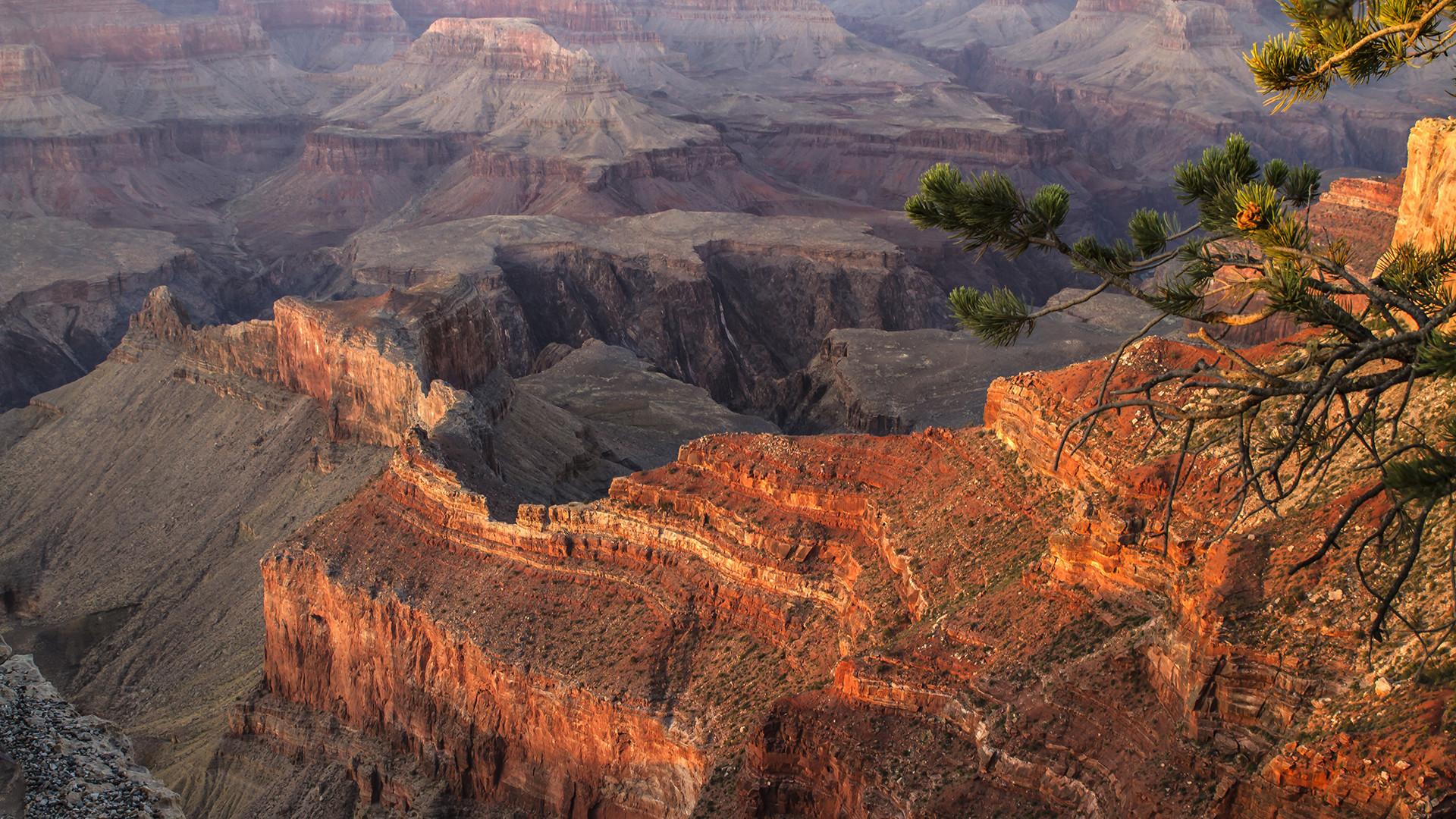 Sonnenuntergangsstimmung am Grand Canyon