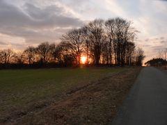 Sonnenuntergangsstimmung in Brandenburg