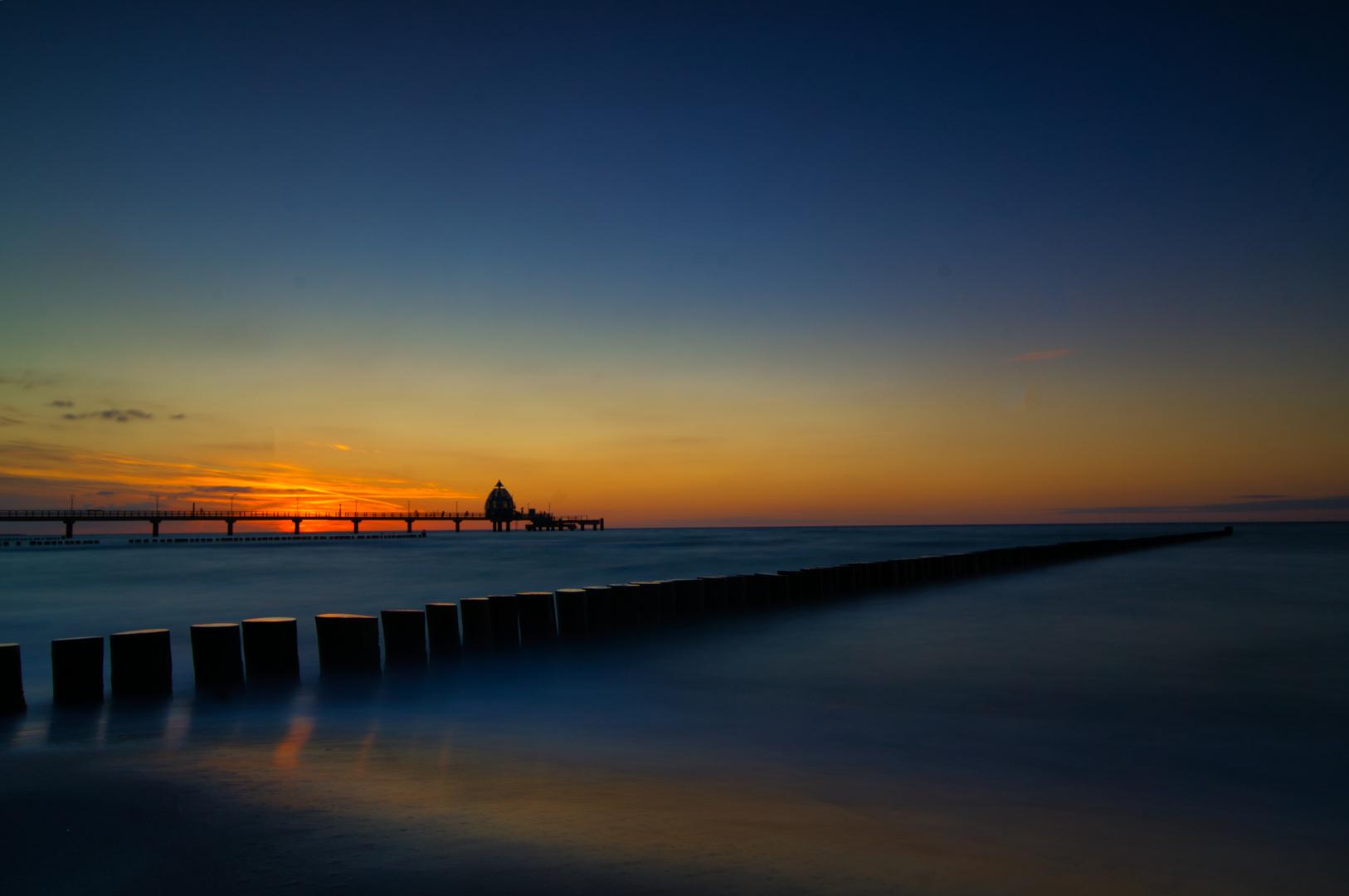 Sonnenuntrergang in Zingst