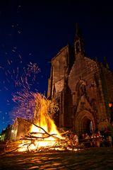 Sonnenwendefest in Locronan - Bretagne - Finistere