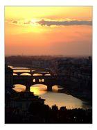 Sonneuntergang über dem Arno II
