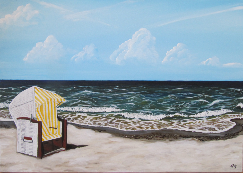 Strandkorb gemalt  Sonnige Pause... Foto & Bild | kunstfotografie & kultur, gemälde ...