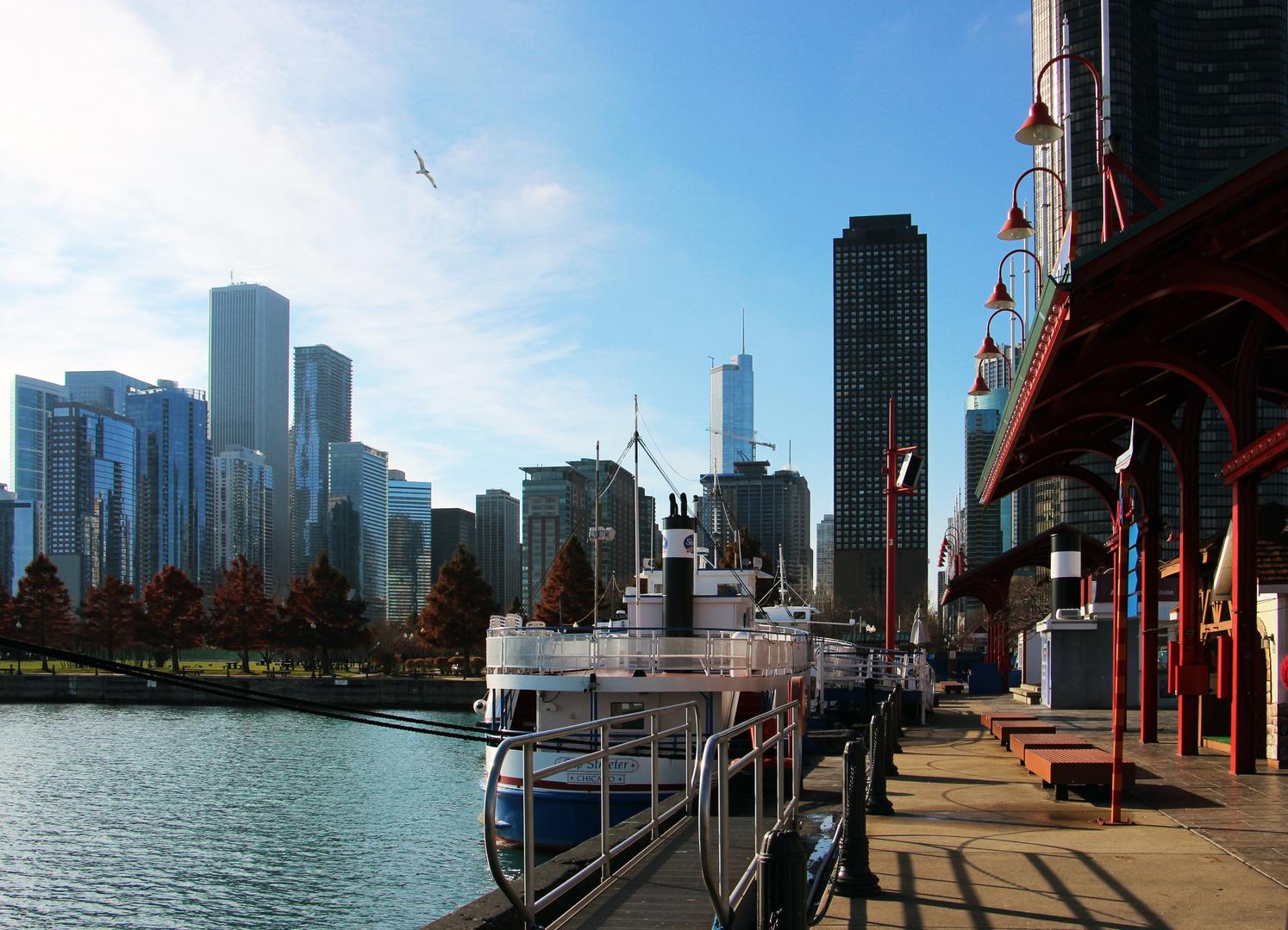 Sonntag-Morgen in Chicago