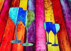 Sonntags abstrakt- Formen in Farben