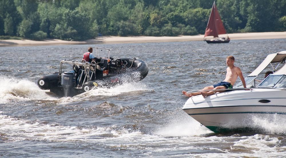 sonntags auf der Elbe ...