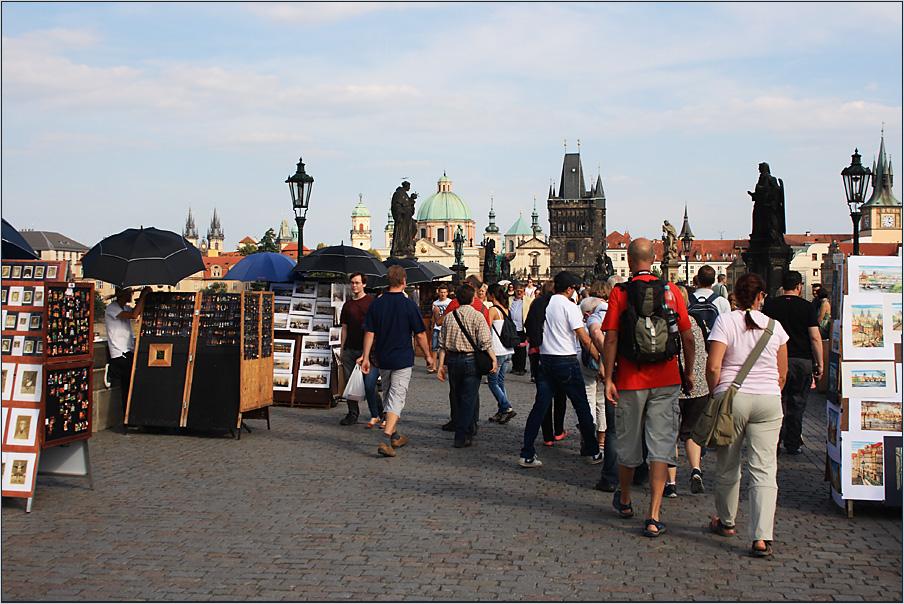 Sonntags auf der Karlsbrücke